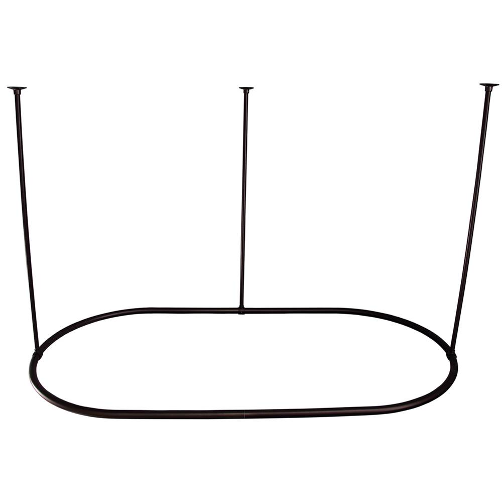 Barclay 60'' Oval Shower Curtain Ring-Oil Rubbed Bronze