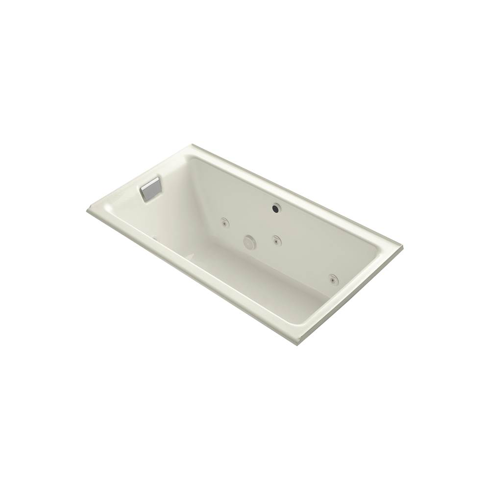 Kohler Tea-for-two 66-in X 36-in Alcove Whirlpool Bath With Left Drain