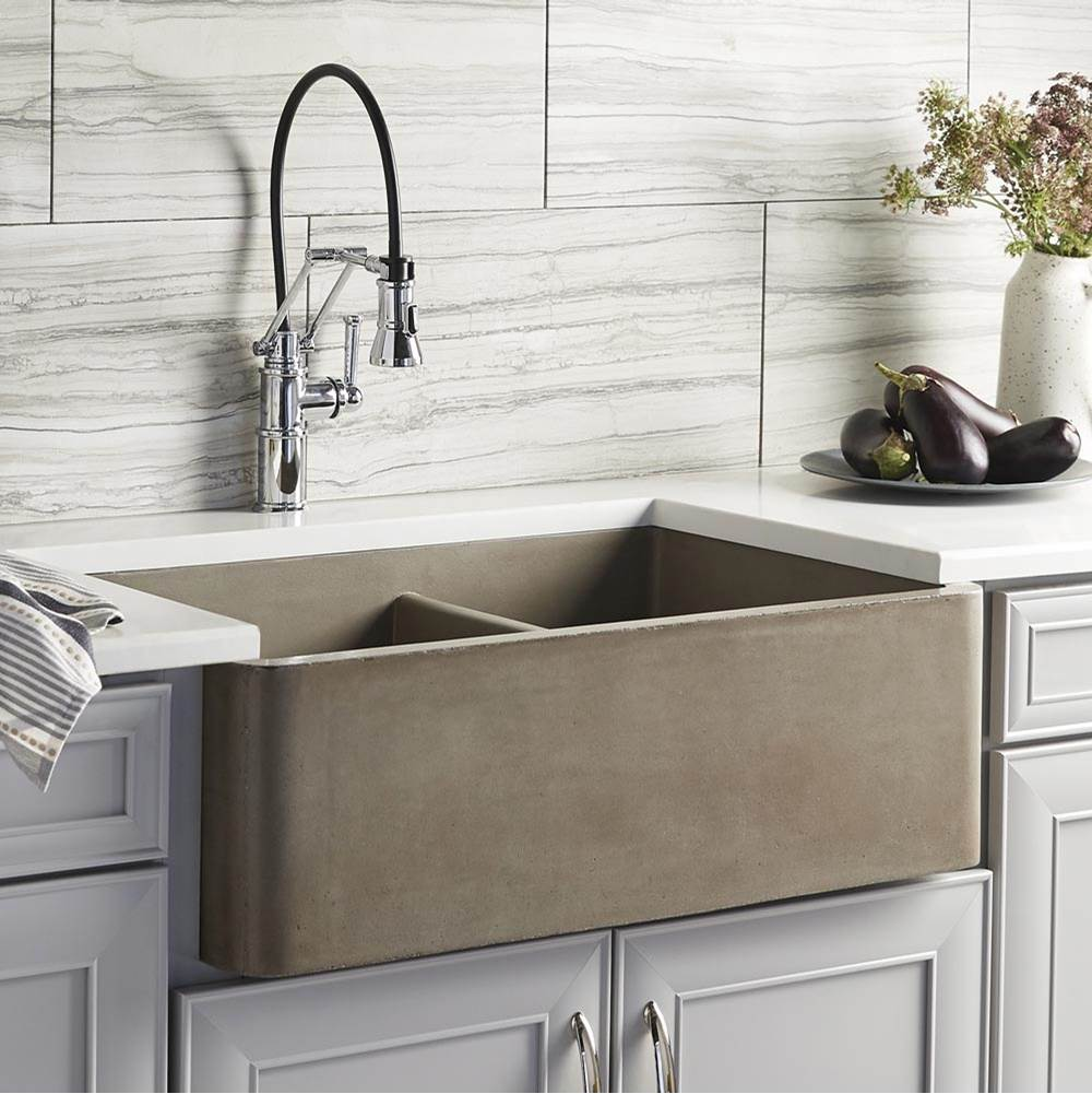 Native Trails Farmhouse Double Bowl Kitchen Sink in Earth