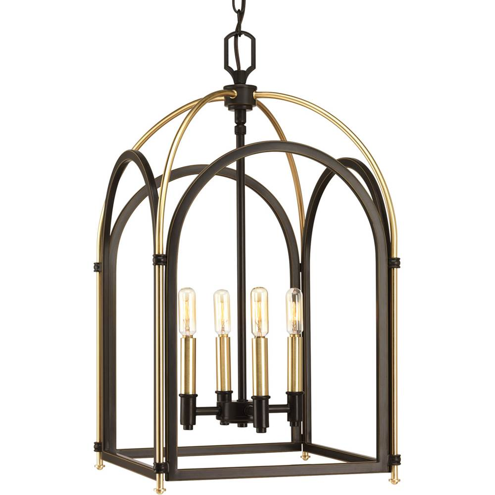 Progress Lighting Westfall Collection Four-light foyer pendant