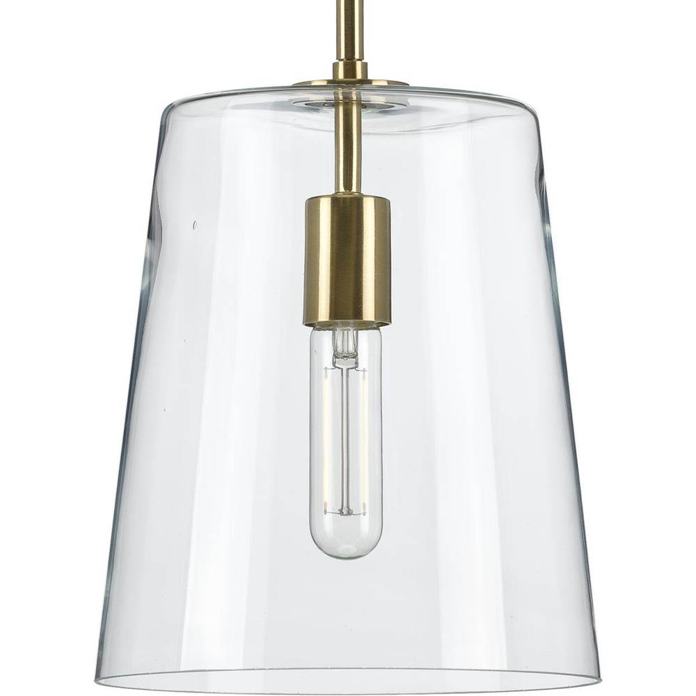 Progress Lighting Clarion Collection Satin Brass One-Light Small Pendant