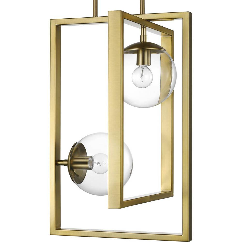 Progress Lighting Atwell Collection Brushed Bronze Two-Light Pendant
