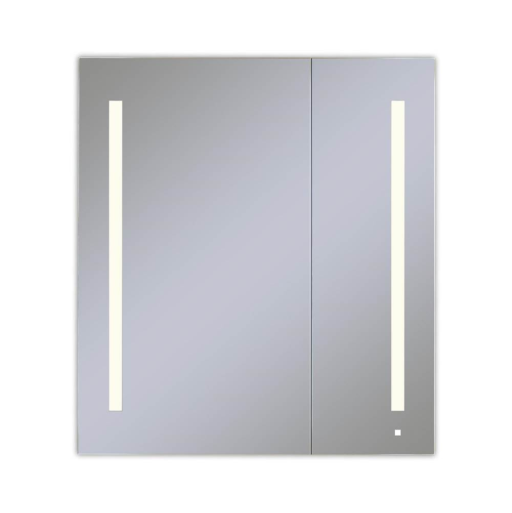 Robern AiO Lighted Cabinet, 36'' x 40'' x 4'', Two Door, LUM Lighting, 2700K Temperature (Warm Light), Dimmable, OM Audio, Electrical Outlet, USB Left Hinge