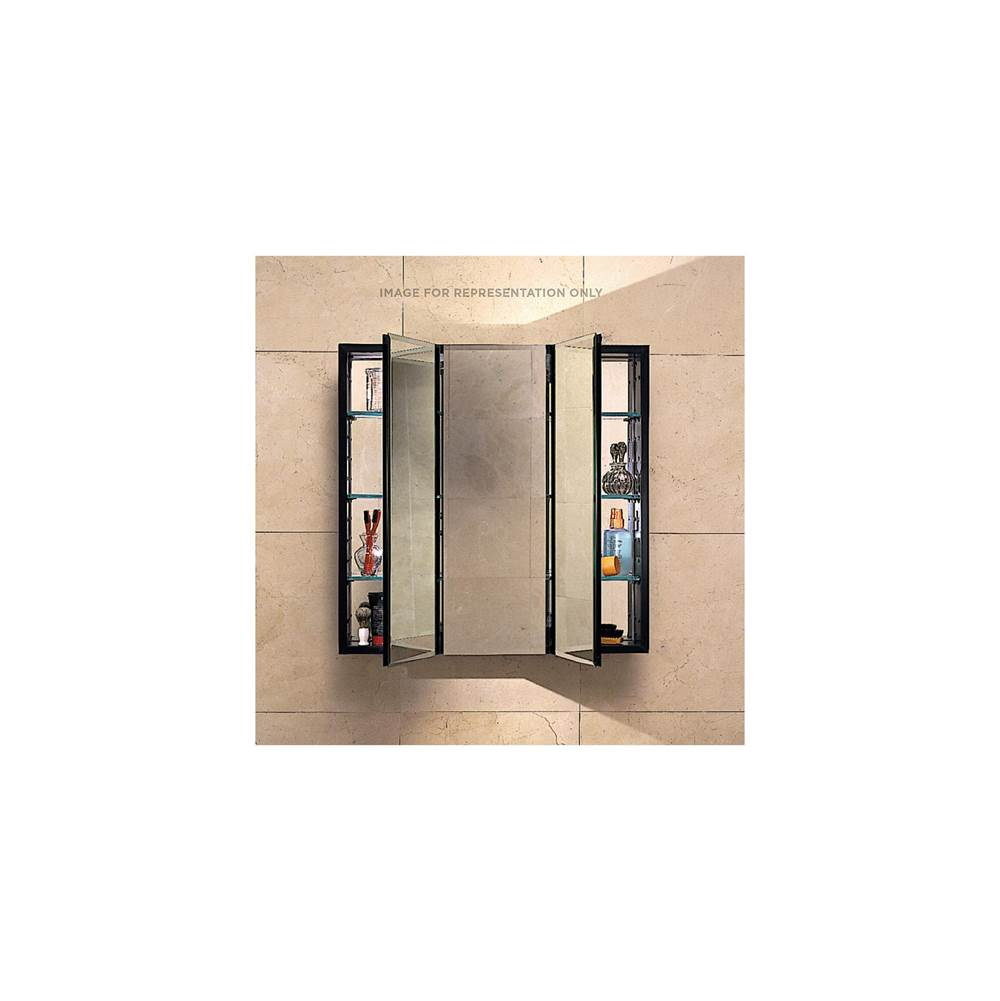 Robern PL Series Cabinet, 30'' x 30'' x 4'', Three Door, Bevel Edge, Classic Gray Interior, Electric