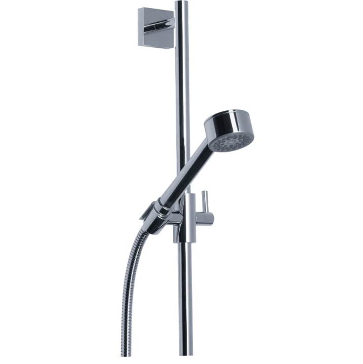 Rohl Square Sliding Rail Shower Set With Handshower And Hose